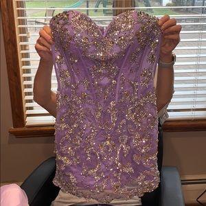 Sherri hill convertible dress lilac purple